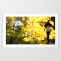 Blurry Foliage Art Print
