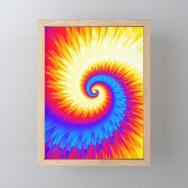 Tie Dye 02, fire and ice Framed Mini Art Print