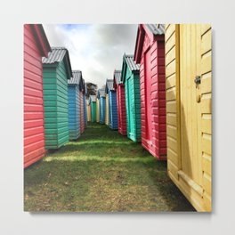 Beach Huts 02A Metal Print