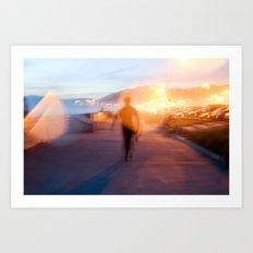 End of Day Surf Art Print