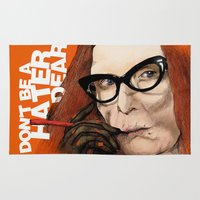 coven Area & Throw Rugs featuring Myrtle Snow || Don't be a hater, dear (from American Horror Story: Coven) by PandaToyz