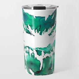 Green Lipstick Print Travel Mug