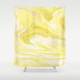 Cute Yellow Marble Design Shower Curtain