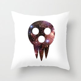 soul eater: lord death mask space Throw Pillow