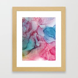 Alcohol Ink Painting Framed Art Print