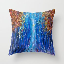Impressionist Autumn -  ( inspired by Pollock ) Throw Pillow