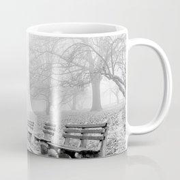 Park Benches and Lamp Post Coffee Mug