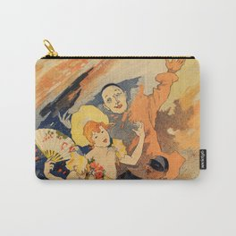Pantomime comedy 1891 by Jules Chéret Carry-All Pouch