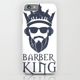 Barber King iPhone Case