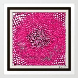 Pink Sunflower Portrait by Jeanpaul Ferro Art Print
