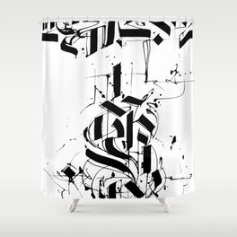 CALLIGRAPHY N°6 ZV Shower Curtain