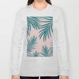 Palm Leaves Pattern Summer Vibes #1 #tropical #decor #art #society6 Long Sleeve T-shirt