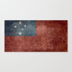 Samoan national flag - Vintage retro version to scale Canvas Print