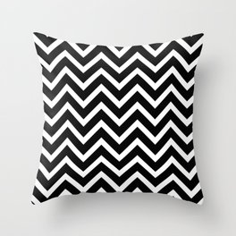 black and white pattern -  zig zag design Throw Pillow