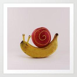 Snail fruit Art Print