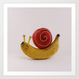 Snail fruit Art Print