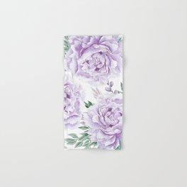 Pretty Purple Flower Garden Hand & Bath Towel