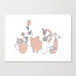 Fatty cat Canvas Print
