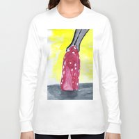 heels Long Sleeve T-shirts featuring shoe heels by Isabel Sobregrau