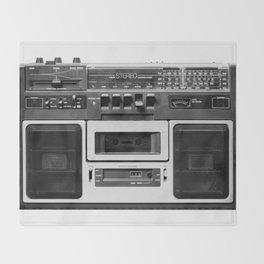 cassette recorder / audio player - 80s radio Throw Blanket