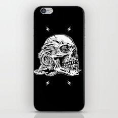 Skull Flower Art Print iPhone & iPod Skin