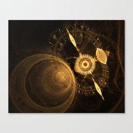 Golden Clock Canvas Print