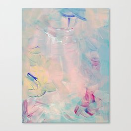 Abstract paint in pink Canvas Print