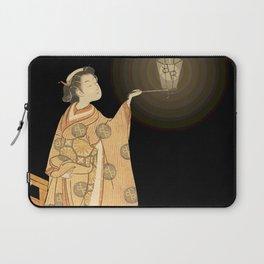 Japanese Cherry Blossom Japanese Woodblock Art Print Night Lamp Laptop Sleeve