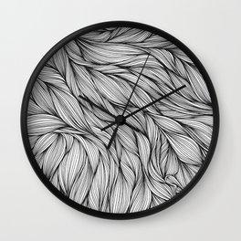 Pin in a Hairstack Wall Clock