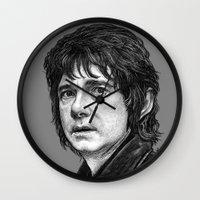 the hobbit Wall Clocks featuring HOBBIT by zinakorotkova