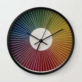 Antique Color Wheel Wall Clock