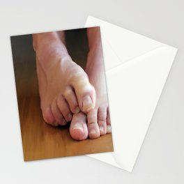 Mans feet (large) Stationery Cards