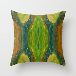 The Excavation of a Luminous Chamber (Enchanted Chemical Abyss) (Reflection) Throw Pillow