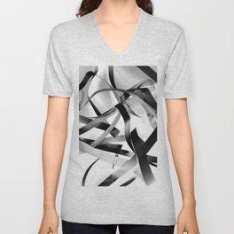 Black paper stripes Unisex V-Neck