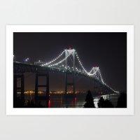Newport Bridge RI Art Print