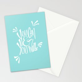 You can and you will (Limpet Shell) Stationery Cards