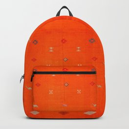 -A10- Traditional Anthropologie Moroccan orange Artwork. Backpack