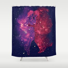 Universes Collide Shower Curtain