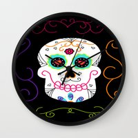 selena gomez Wall Clocks featuring Gomez by Designs By Misty Blue (Misty Lemons)