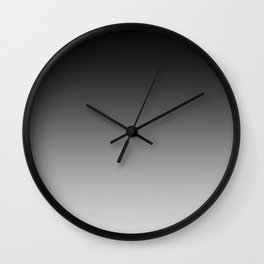 Black to Gray Horizontal Linear Gradient Wall Clock
