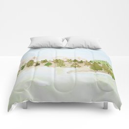 Pines and mountains Comforters