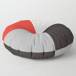 Red black gray quarters Floor Pillow