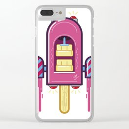 Space icecream Clear iPhone Case