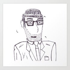 Homeless Mitch Art Print