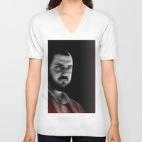 kubrick V-neck T-shirts featuring MR. KUBRICK by JOCTV