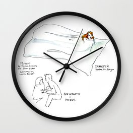Live Sketches of Mythic dress rehearsal at Segal Centre - 3 Wall Clock