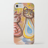 peanuts iPhone & iPod Cases featuring Purrsian Peanuts by Hollibel