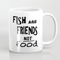 iwatobi Mugs featuring Fish are Friends by Gianbe