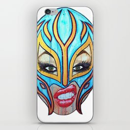 Lucha Libre Lady iPhone Skin