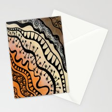 From copper to bronze tangled Stationery Cards